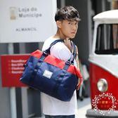 雙11購划算-短途旅行包女輕便簡約行李包手提大容量旅行袋防水單肩潮健身