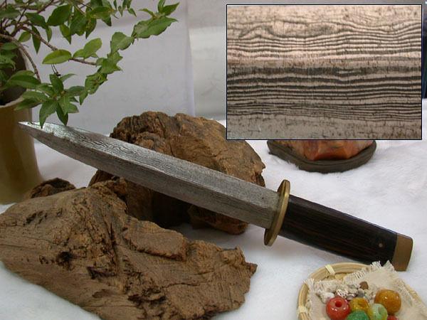 郭常喜與興達刀具--積層花紋鋼手工製作藝術短劍(60201)