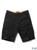 夏季工裝短褲復古休閒多口袋寬鬆大碼中褲五分褲潮男薄款休閒短褲 FX4934 【野之旅】