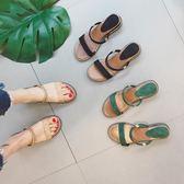 chic涼拖鞋ins女夏新款時尚百搭外穿網紅鞋平底社會拖鞋兩穿