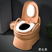 成人馬桶孕婦可移動坐便器家用便攜式老人尿桶大便椅 qz7382【野之旅】