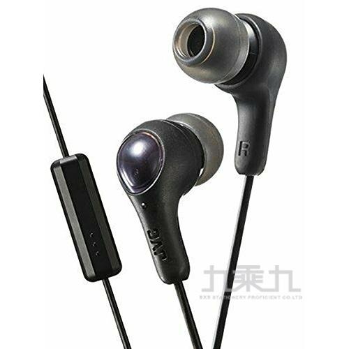 JVC繽紛果凍系列耳機麥克風-黑(FX7MB)