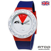 ATOP 世界時區腕錶|24時區國旗系列 - VWA-UK 英國