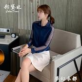 韓版2020年純色百搭大碼顯瘦打底衫長袖潮流休閒時尚修身女士襯衫 聖誕節全館免運