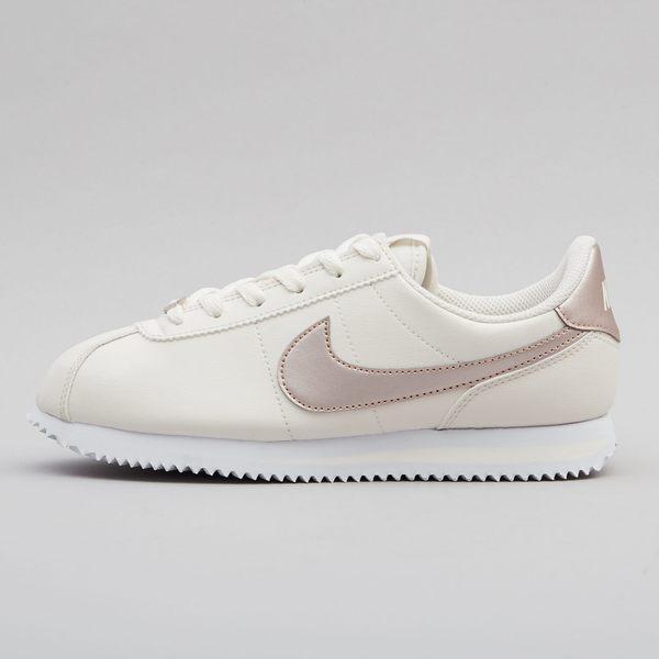 ISNEAKERS Nike Classic Cortez 米白 玫瑰金 皮革 阿甘 AH7528-002