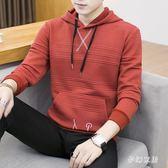 中大尺碼連帽長袖T恤男士上衣服秋衣學生韓版sd3376『夢幻家居』