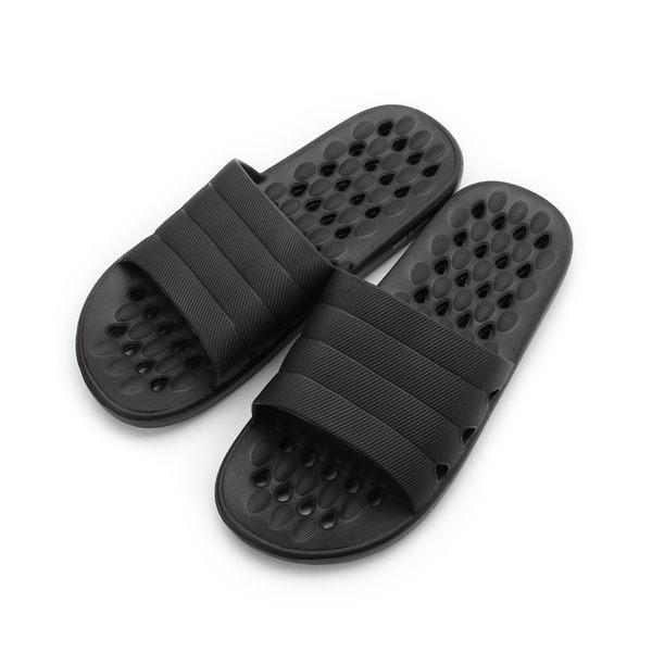 SLIPA 簡約透氣室內拖 黑 JB02 男鞋 鞋全家福