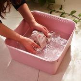 塑料臉盆家用洗衣盆嬰兒洗臉盆加厚耐摔