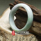 淺綠色A貨翡翠玉鐲(些微透光,圓鐲19.5)WG022。嚴選翡翠,可訂製珠寶。附A貨翡翠雙證書