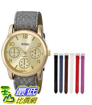 [美國直購] 女錶 XOXO Women s XO9027 Seven Color Snake Interchangeable Strap Set Watch