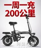 電動車 斯洛克新國標折疊電動自行車鋰電池代步小型代駕電瓶電動車助力車 MKS阿薩布魯