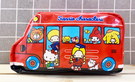 【震撼精品百貨】Hello Kitty 凱蒂貓~日本SANRIO三麗鷗KITTY化妝包/筆袋-MX公車紅*98268