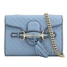 茱麗葉精品【全新現貨】GUCCI 449636 Guccissima mini 牛皮金鍊包.淺藍