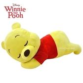 日本限定 迪士尼 小熊維尼 睡眠版 抱枕 玩偶娃娃 55cm