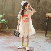 聖誕好物85折 女童夏裝連身裙2018新款韓版洋氣夏季兒童短袖公主紗裙子女孩衣服
