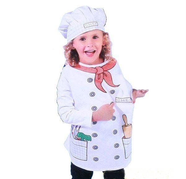 廚師裝扮服 兒童職業裝扮服裝萬聖節.聖誕節.舞會表演角色扮演道具警察醫生COSPLAY