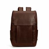 後背包-皮革復古簡約韓版大容量男雙肩包2色73in33[時尚巴黎]