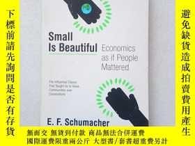 二手書博民逛書店Small罕見Is Beautiful:Economics as if People Mattered(英文原版)
