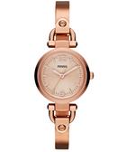 FOSSIL MINI 優雅小錶徑時尚手環女錶-玫塊金/27mm ES3268