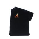 KANGOL 短袖T恤 落肩短版 黑色 漸層袋鼠/草寫LOGO 6122100920 noF35