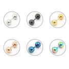 鈦鋼圓球雙頭耳環  單支價 鋼針 素色球球耳環 3mm 4mm 耳釘 耳骨針【D041】