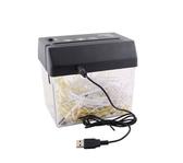 USB兩用電動碎紙機迷你家用便攜碎紙機A6桌面辦公條狀小型碎紙機 亞斯藍