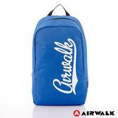 AIRWALK - 快樂曲線 撞色LOGO後背包 - 白字藍-A311320880