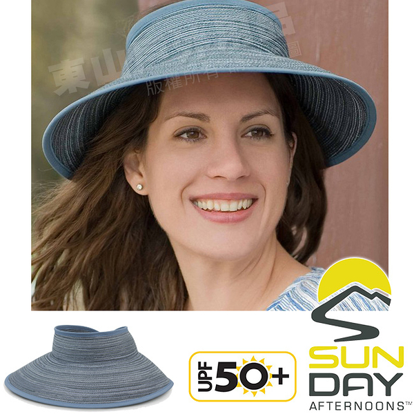 Sunday Afternoons S2C21073C-514低調藍 防曬編織空頂帽 Sicily Visor