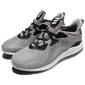 adidas 慢跑鞋 AlphaBounce 1 M 灰 黑 鯊魚腮 男鞋 運動鞋 【PUMP306】 BW0540