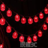 燈串 LED結彩燈閃燈串燈過年春節喜慶小燈串房間紅燈籠掛燈裝飾燈 玩趣3C