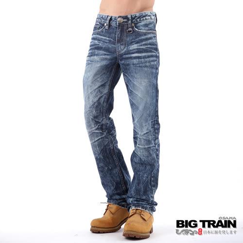 BIG TRAIN 骷髏小直筒-男-深藍