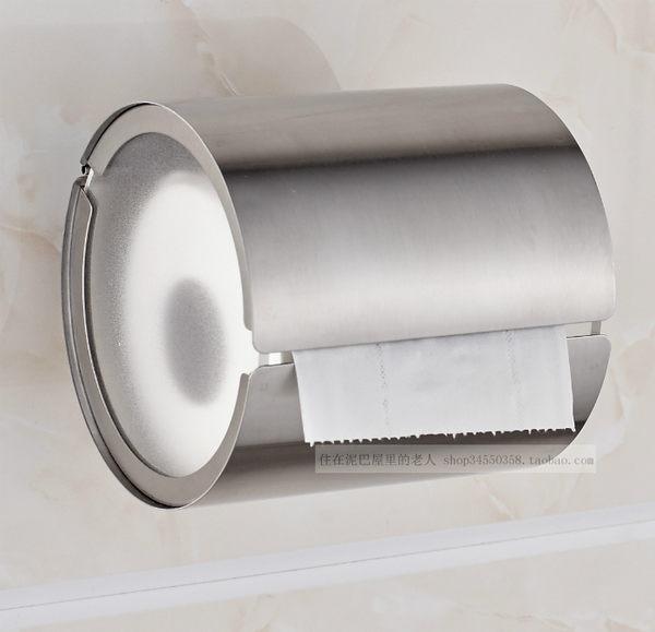 304不銹鋼衛生間廁所紙巾架捲紙架手紙架紙巾盒衛生紙架可免打孔【母親節禮物八折大促】