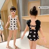 兒童泳衣女童女孩游泳衣連體可愛寶寶比基尼泳裝【少女顏究院】