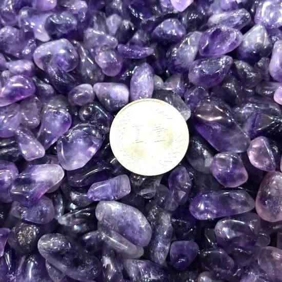 『晶鑽水晶』天然紫水晶碎石~開智慧~招智慧財 200公克*巴西A級精選**小~大