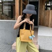 托特包包包女包新款2020韓國狗牙包菜籃子托特包側背大容量手提包女小包 雲朵走走