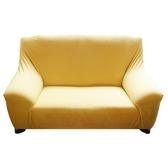 HOLA 素色彈性三人沙發套 麥黃