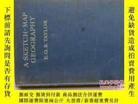 二手書博民逛書店A罕見SKETCH-MAP GEOGRAPHY(20開硬精裝,第