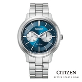 CITIZEN 星辰 光動能 BU4030-91L 手錶 藍/39.5mm