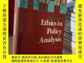 二手書博民逛書店Ethics罕見in Policy AnalysisY15389