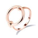 【5折超值價】 情人節禮物時尚精美極簡圓圈空心造型女款鈦鋼戒指