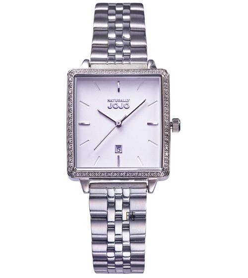 NATURALLY JOJO 極簡風方形 晶鑽錶 JO96975-80F 禮物