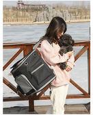 加大寵物背包秋冬季保暖貓包外出包可折疊便攜雙肩狗狗背包包20斤