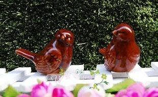 家居工藝品擺件/園藝庭院裝飾/陶瓷百搭小胖鳥/仿真小鳥