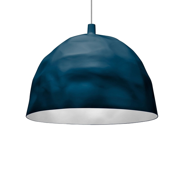 Foscarini Bump Suspension Lamp 50cm 冰鑽造型 色彩 吊燈(不透明藍色 Petrolio - 加長吊線長 400cm)