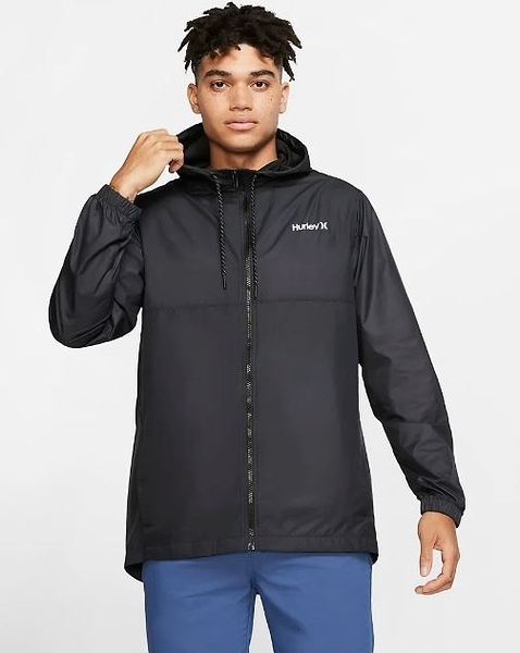 Hurley  M SIEGE WINDBREAKER JACKET BLACK  夾克-(男)