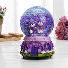 音樂盒-旋轉雪花發光玻璃水晶球八音盒送女朋友閨蜜兒童生日交換禮物【年貨好貨節免運費】