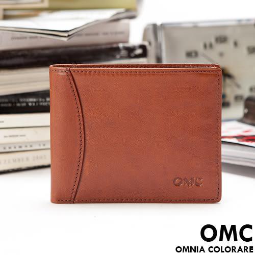OMC - 原皮魅力真皮款左右翻9卡1照短夾