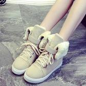 中筒雪靴-時尚純色甜美兩穿女厚底靴子3色73kg15[巴黎精品]