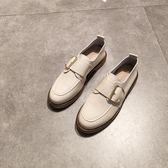 一件85折免運--圓頭單鞋軟底小皮鞋女英倫復古風牛津鞋布洛克鞋