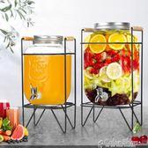 飲料桶釀酒泡酒玻璃瓶帶龍頭家用玻璃密封罐發酵桶飲料水果酵素瓶 color shop YYP